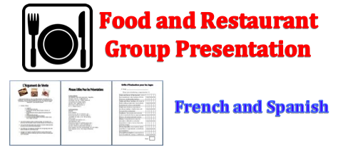 Foreign (World) Language Food and Restuarant Project (French, Spanish) wlteacher.wordpress.com