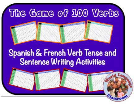 Spanish & French Verb Tense and Sentence Writing Powerpoint Activities wlteacher.wordpress.com