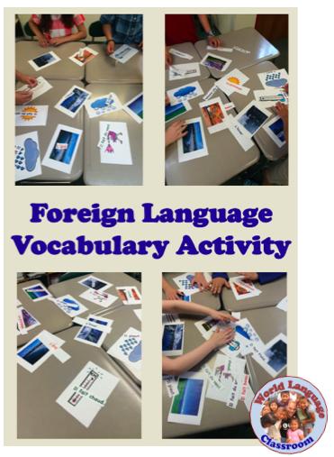 Foreign (World) Language Vocabulary Activity (French, Spanish) wlteacher.wordpress.com