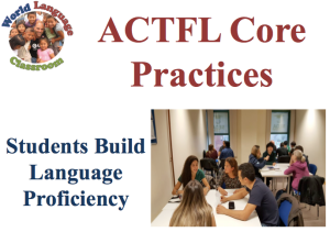 ACTFL Core Practices. Students Build Language Proficiency. (SlideShare) (French, Spanish) www.wlclassroom.com
